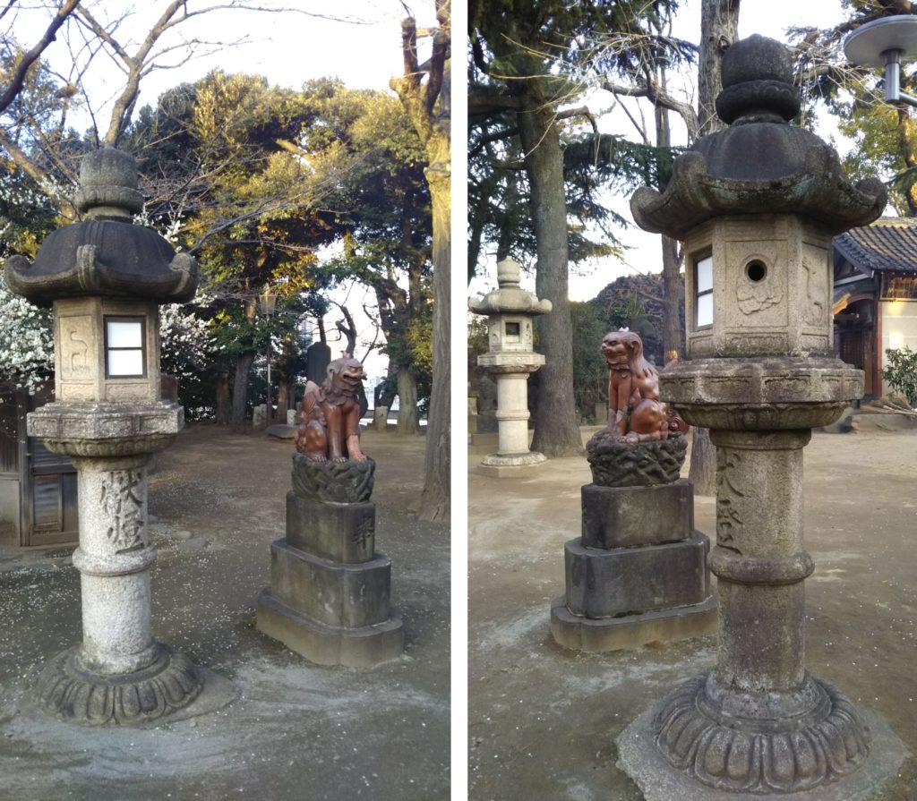 品川神社・備前焼狛犬